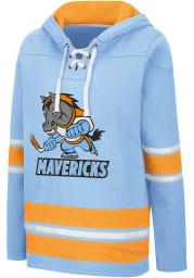 Colosseum Kansas City Mavericks Womens Blue Roommate Agreement Hooded Sweatshirt