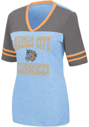 Colosseum Kansas City Mavericks Womens Blue Cuba Libre Short Sleeve T-Shirt