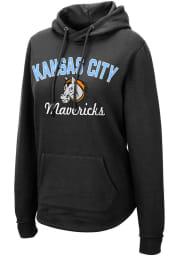 Colosseum Kansas City Mavericks Womens Black Crossover Hooded Sweatshirt