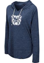 Colosseum Butler Bulldogs Womens Navy Blue Cora Hooded Sweatshirt