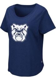 Colosseum Butler Bulldogs Womens Navy Blue Myla Short Sleeve T-Shirt