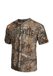 Colosseum Louisville Cardinals Green Brow Tine Short Sleeve T Shirt
