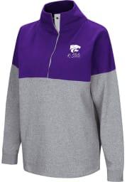 Colosseum K-State Wildcats Womens Purple Breakthrough 1/4 Zip Pullover