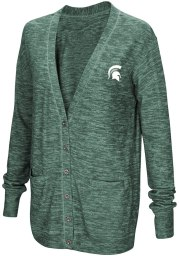 Colosseum Michigan State Spartans Womens Green Had Me At Hello Long Sleeve Cardigan