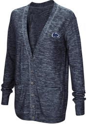 Colosseum Penn State Nittany Lions Womens Navy Blue Had Me At Hello Long Sleeve Cardigan