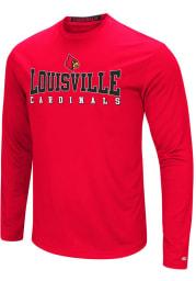 Colosseum Louisville Cardinals Red Streamer Long Sleeve T-Shirt