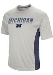 Colosseum Michigan Wolverines White Beamer Short Sleeve T Shirt