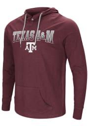 Colosseum Texas A&M Aggies Mens Maroon Big Air Long Sleeve Hoodie