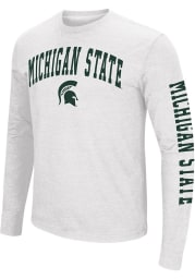 Colosseum Michigan State Spartans White Jackson Long Sleeve T Shirt