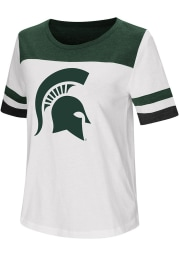 Colosseum Michigan State Spartans Womens White Show Me The Money Short Sleeve T-Shirt