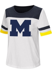 Colosseum Michigan Wolverines Womens White Show Me The Money Short Sleeve T-Shirt