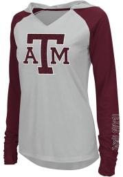 Colosseum Texas A&M Aggies Womens White Cher Hooded Sweatshirt