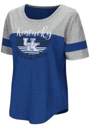 Colosseum Kentucky Wildcats Womens Blue Goofy Foot Short Sleeve T-Shirt