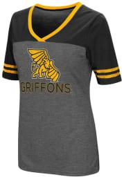 Colosseum Missouri Western Griffons Womens Grey McTwist V-Neck T-Shirt
