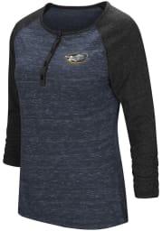 Colosseum La Salle Womens Blue Slopestyle Long Sleeve Scoop Neck