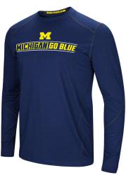 Colosseum Michigan Wolverines Navy Blue Bayous Long Sleeve T-Shirt