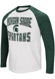 Colosseum Michigan State Spartans White Cajun Long Sleeve T Shirt