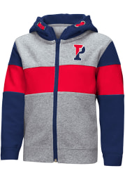 Colosseum Pennsylvania Quakers Toddler Snowplough Long Sleeve Full Zip Sweatshirt - Grey