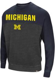 Colosseum Michigan Wolverines Mens Charcoal Nice Hit Long Sleeve Fashion Sweatshirt