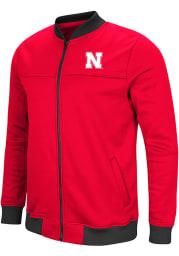 Colosseum Nebraska Cornhuskers Mens Red Sack The QB Track Jacket