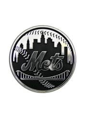 New York Mets Chrome Car Emblem - Black