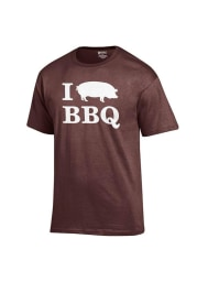 BBQ Brown I Pig BBQ Short Sleeve T Shirt