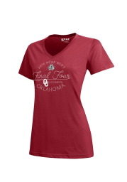 Oklahoma Sooners Womens Crimson Script Short Sleeve T-Shirt