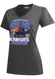 Kansas Jayhawks Womens Charcoal Desert Ball Short Sleeve T-Shirt