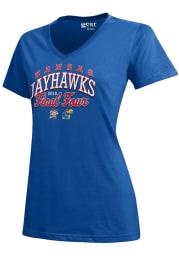 Kansas Jayhawks Womens Blue Generic Short Sleeve T-Shirt