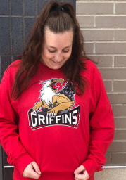 Champion Grand Rapids Griffins Red Team Logo Long Sleeve T Shirt