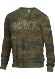 Philadelphia Mens Green Champ Crew Long Sleeve Crew Sweatshirt