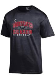 Cincinnati Bearcats Black 2020 AAC Champions Short Sleeve T Shirt