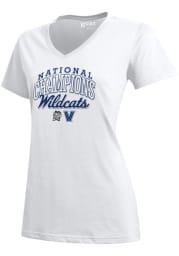 Villanova Wildcats Womens White 2018 National Champions Mia Short Sleeve T-Shirt