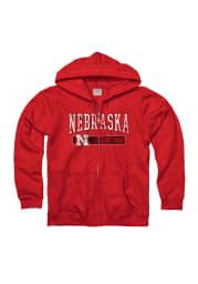 Nebraska Cornhuskers Juniors Red Icon Bridge Long Sleeve Full Zip Jacket