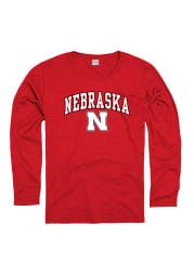 Nebraska Cornhuskers Womens Red Midsize Spirit Long Sleeve Women's Crew