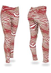Zubaz San Francisco 49ers Womens Red Zebra Pants