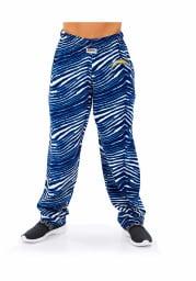 Zubaz Los Angeles Chargers Mens Blue Traditional Three Color Zebra Sleep Pants