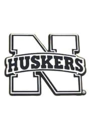 Nebraska Cornhuskers Chrome Car Emblem - Silver