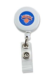 New York Knicks White Plastic Badge Holder
