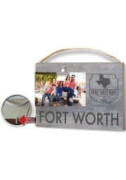 Dallas Ft Worth Clip it Gray Name Drop Frame Picture Frame