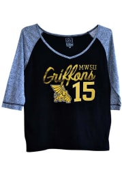 Missouri Western Griffons Juniors Black Morgan Long Sleeve T-Shirt