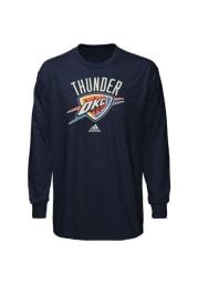 Oklahoma City Thunder Boys Navy Blue Primary Logo Long Sleeve T-Shirt