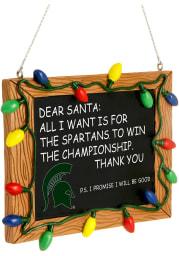 Michigan State Spartans Chalkboard Sign Ornament