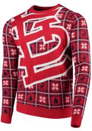 St Louis Cardinals Mens Red Big Logo Long Sleeve Sweater