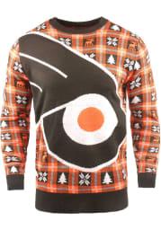 Philadelphia Flyers Mens Black Big Logo Long Sleeve Sweater