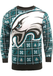 Philadelphia Eagles Mens Midnight Green Big Logo Long Sleeve Sweater