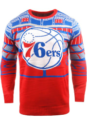 Philadelphia 76ers Mens Blue Bluetooth Long Sleeve Sweater