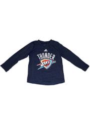 Oklahoma City Thunder Toddler Navy Blue Toddler Primary Logo Long Sleeve T-Shirt