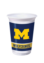 Michigan Wolverines 8 Pack Disposable Cups