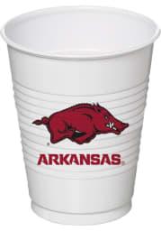Arkansas Razorbacks 16oz 8 pack Disposable Cups